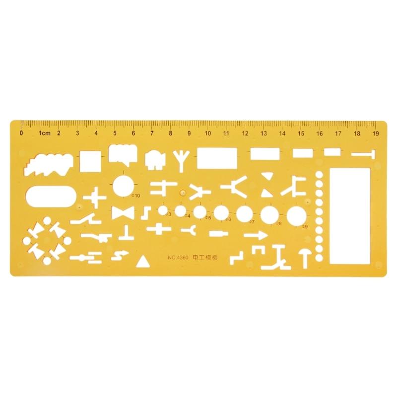 Geometric Electrician Formwork Template Ruler Stencil Drawing Measuring Tool