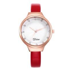 Новинка 2019 г. бренд для женщин Простой циферблат повседневное наручные часы женская кожаная обувь кварцевые со стразами женские элегантны