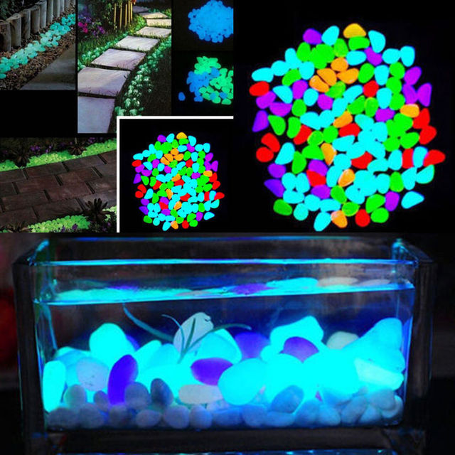 10pcs glow in the dark garden pebbles glow stones rocks for walkways garden path patio lawn - Glow In The Dark Garden Pebbles