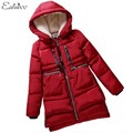 1 PC 2016 Mulheres Jaqueta de Inverno Com Capuz de Algodão Acolchoado Casaco Plus Size Espessamento Parkas Inverno Para As Mulheres BB0004