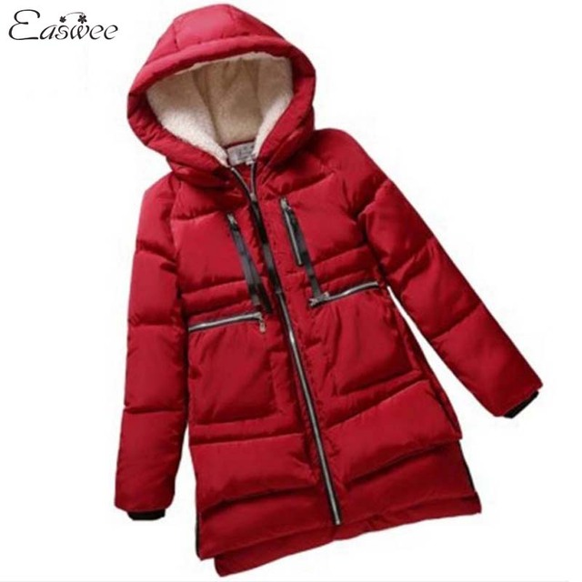 1PC 2016 Winter Jacket Women Hooded Cotton Padded Coat Plus Size Thickening Parkas For Women Winter BB0004