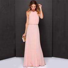 6c62967e2b343 Buy pink long dress boho sleeveless and get free shipping on ...