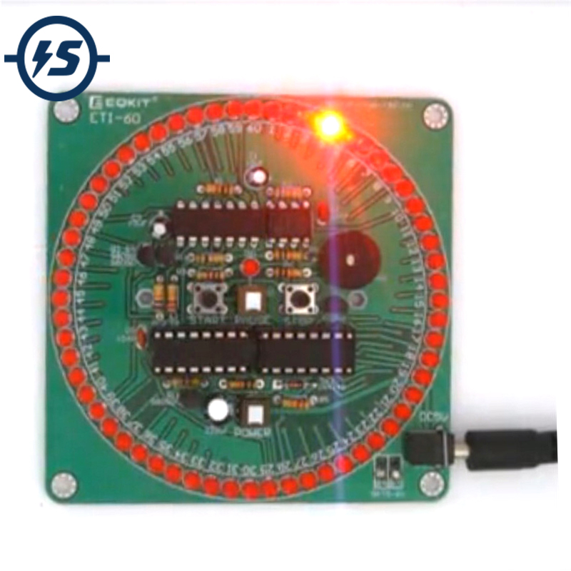 60 Second Countdown Timer DIY Kit Red Smart Timing Alarm Electronic Parts and Components Eletronicos Electronic DIY