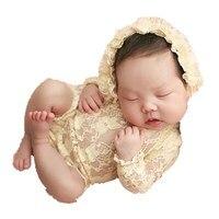 newborn photography prop Lace Clothes Photo Caps cloth swaddle shawl wraps fotografie achtergronden for infant