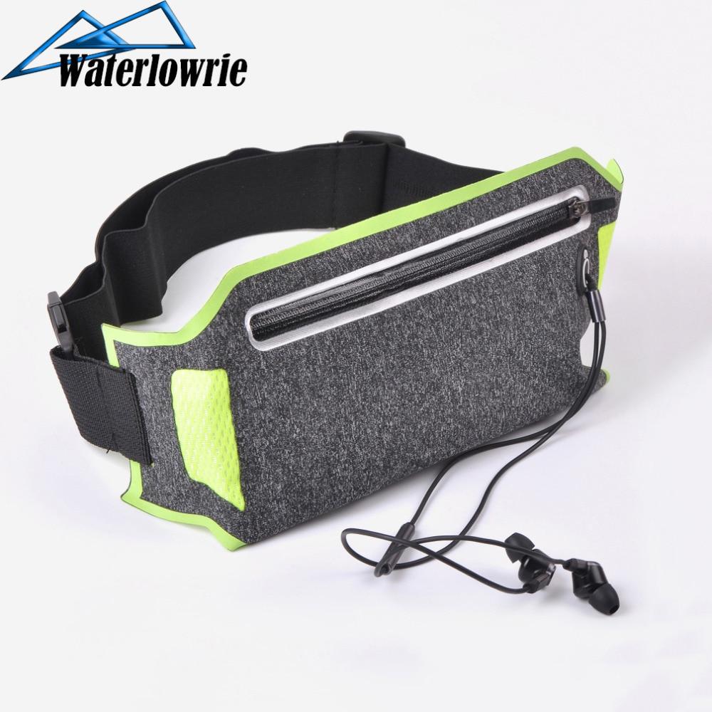 Беговая поясная сумка для спорта на открытом воздухе, чехол для мобильного телефона, водонепроницаемая Защитная сумка для iPhone 5, 6, 7, 8/Plus, X, XR, ...