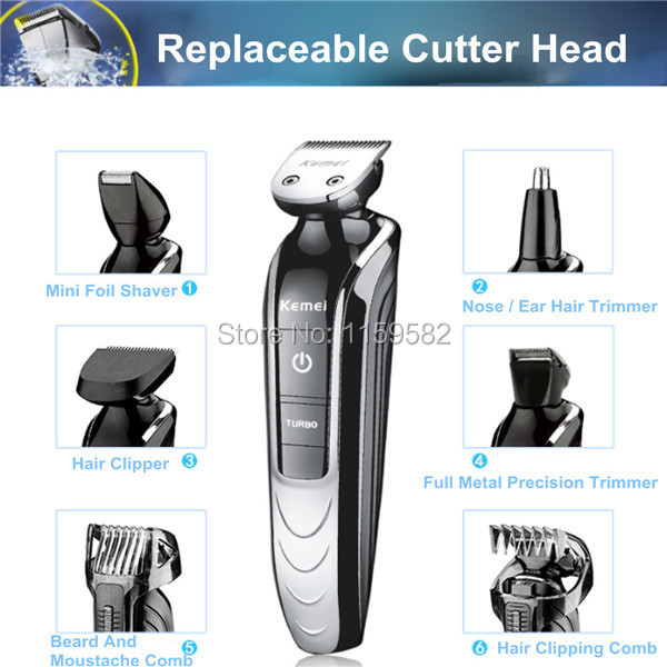 High technology Rechargeable Waterproof Hair Clipper Beard Electric shaver Hair Trimmer Shaver Body Hair  Shaving Trimmer new rechargeable waterproof hair clipper set beard electric hair trimmer shaver body hair with accessories