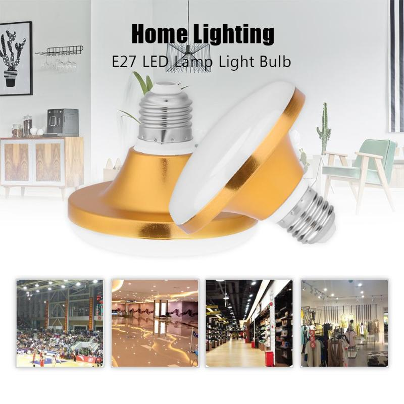 Energy Saving E27 LED Lamp 12-60W SMD 5730 Flat High Power LED Light Bulb 220V E27 UFO LED Light for Home Lighting