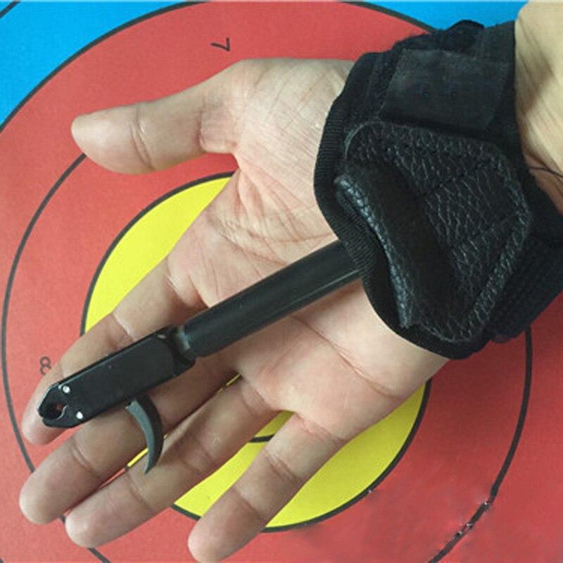 Новые руки лук комплект триггера релиз для блочного Лука выпуска суппорт Стрельба триггер с пряжкой ремешок