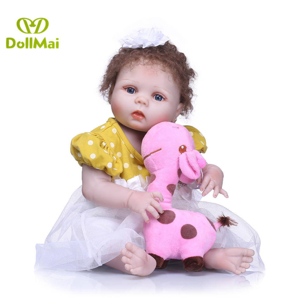 New arrival 55cm Full Silicone Reborn Baby Doll Toy For Sale high quality Newborn Princess Toddler Babies Alive Bebe girl Gift New arrival 55cm Full Silicone Reborn Baby Doll Toy For Sale high quality Newborn Princess Toddler Babies Alive Bebe girl Gift