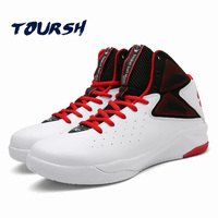 TOURSH 2017 New Basketball Shoes Breathable Basketball Shoes Men Black Breathable High State High To Help