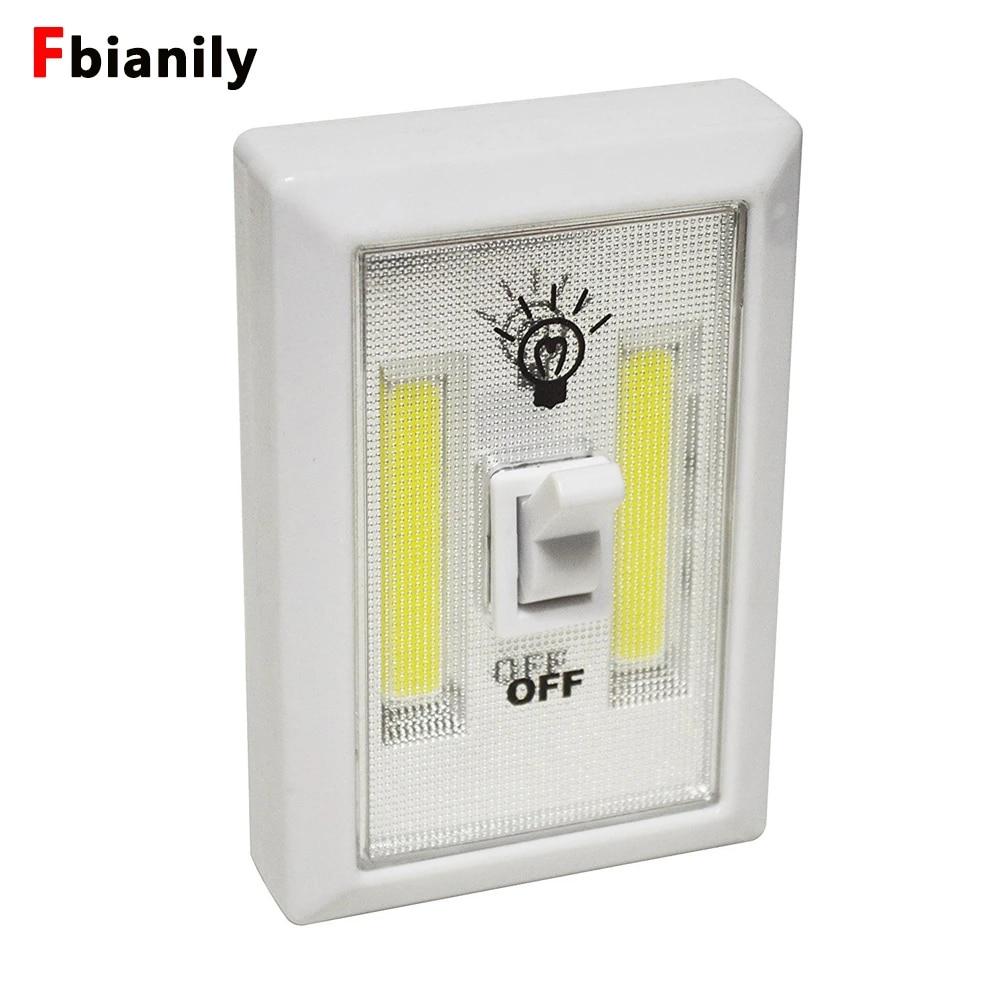COB LED Wall Switch Wireless Closet Corridor Cabinet Night Light Lamp Cordless