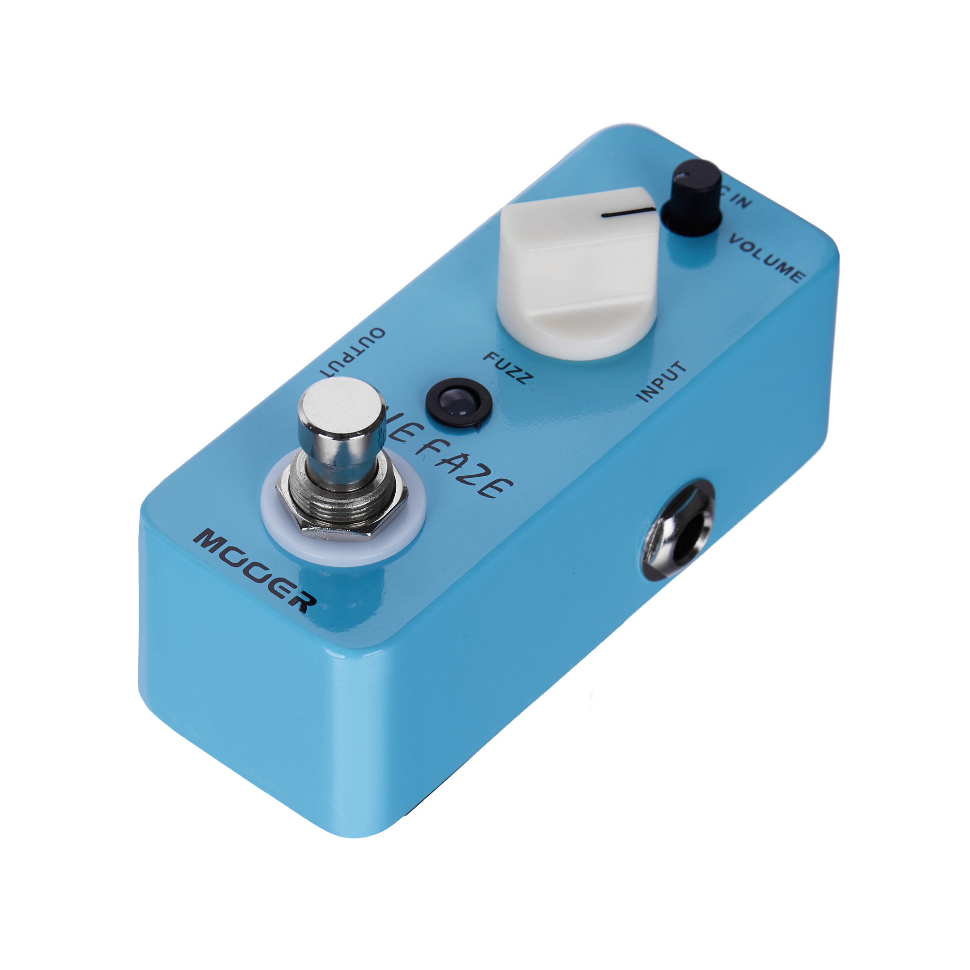 Mooer Blue Faze Fuzz Pedal Electric Guitar Effect Pedal True Bypass MFZ1 mooer blue faze fuzz effect pedal mini electric guitar effects true bypass with free connector and footswitch topper
