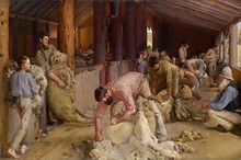 Shearing The Rams - Tom Roberts - Unframed
