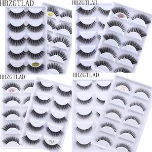 Image 1 - Mới 5 Đôi Giả Chồn Lông Mi 3D Tự Nhiên Lông Mi Giả 3D Chồn Hàng Mi Mềm Mại Cây Nối Mi Trang Điểm Cilios