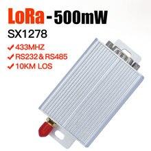 Lora SX1278 433mhz lora 모듈 500mw 10km 장거리 rf 트랜시버 모듈 rs232 및 rs485 lora 라디오 모뎀