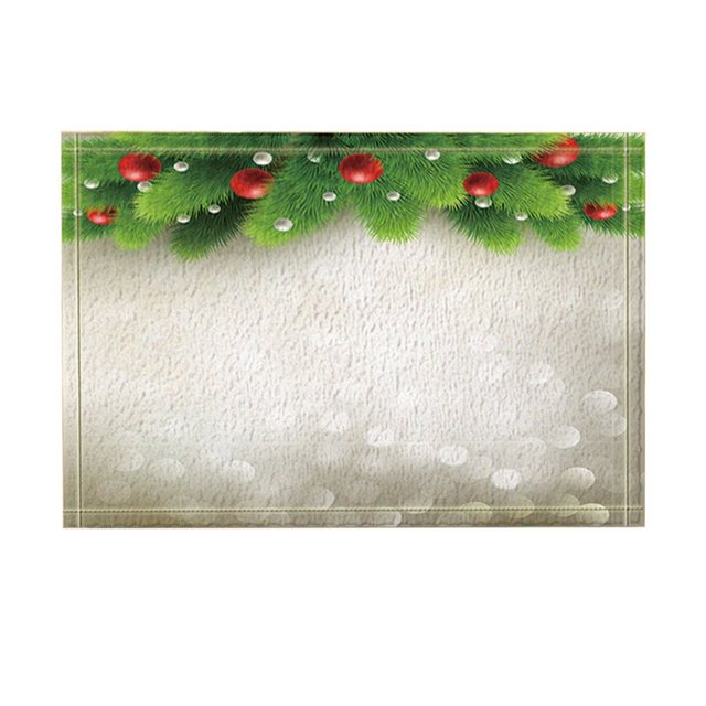 Christmas Tree Decor Winter Background With Green Pine Branch Bath
