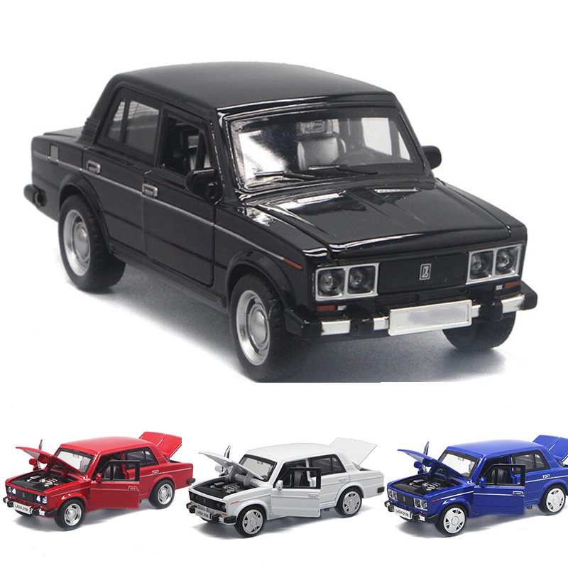 1:32 4 Colors High Simulation LADA  Alloy Car Model Russian Diecast Vintage Metal Car Castings Collection Model Toys V162