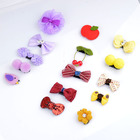 5 pieces Kids with Fine Wispy Hair Mini Latch Wisp Clip Newborn flower hair clips Hairpin Girls hairpin A77