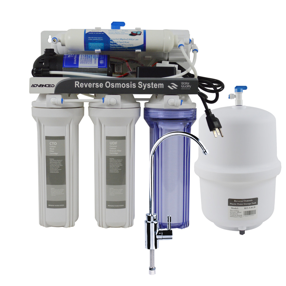 High Efficiency 50GPD Under-Sink Reverse Osmosis Drinking Water Filtration System/110 - 120V Power Supply 5 stage undersink reverse osmosis drinking water filtration system 50gpd plus extra set of 4 supreme quality replacement filters