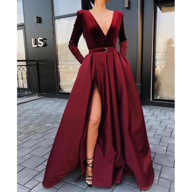 Consultar Precio Vestidos Largos De Dama Honor Borgoña Con