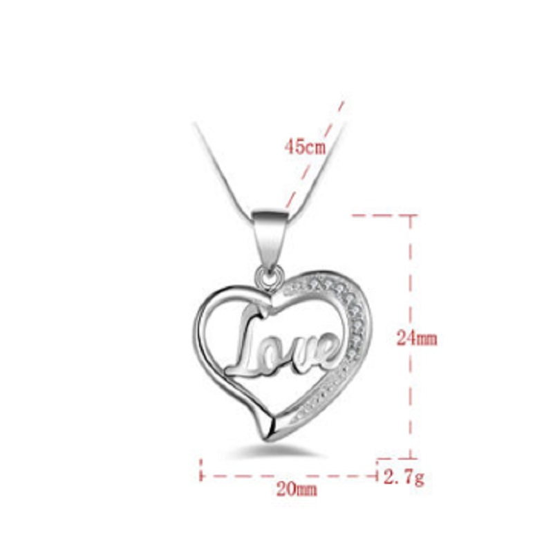 1pc lovely plated silver heart pendant necklace with letters love 1pc lovely plated silver heart pendant necklace with letters love chain beautiful gifts for women lady in pendant necklaces from jewelry accessories on aloadofball Gallery
