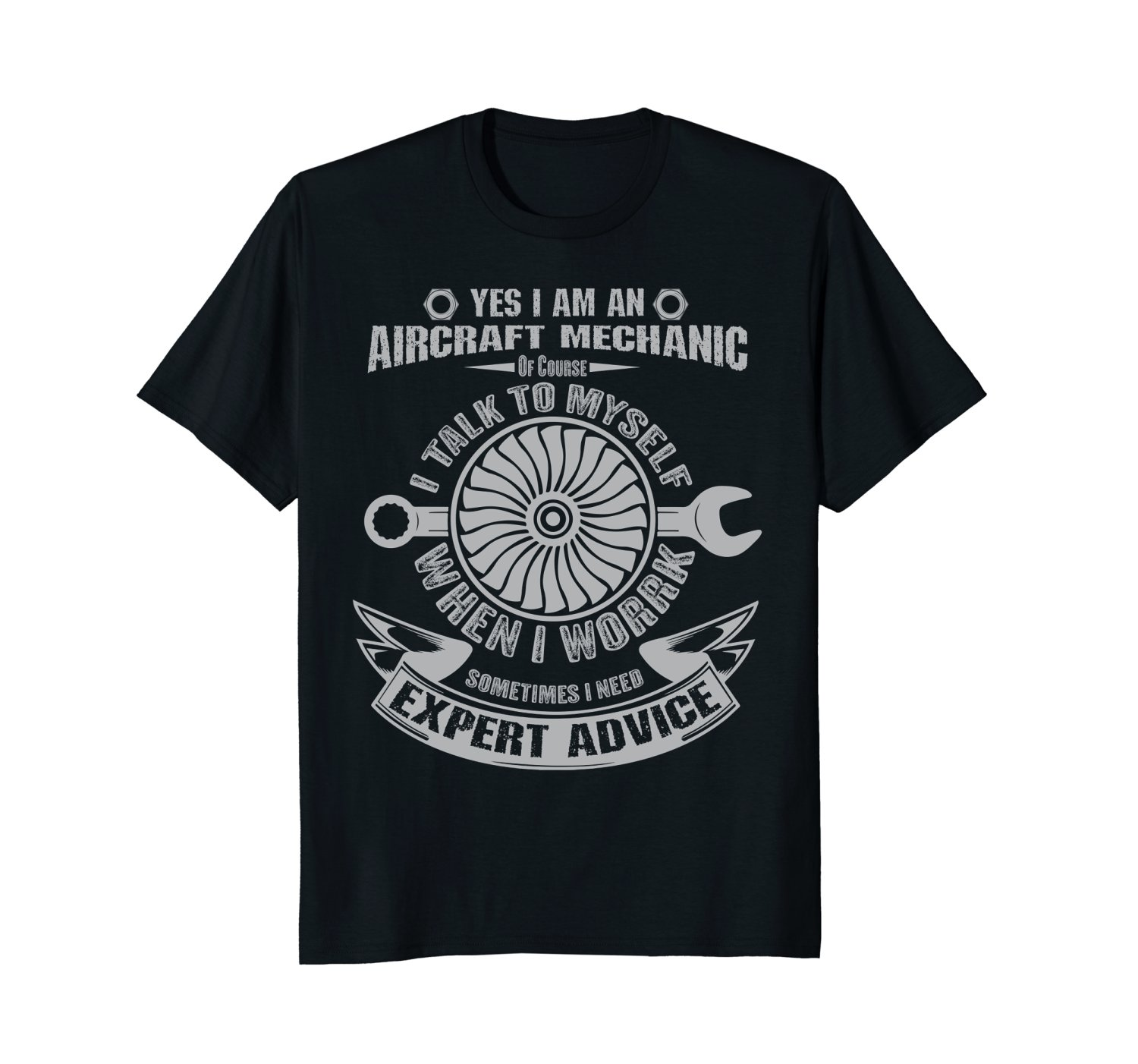 2019 New Summer Cool Tee Shirt I'm An Aircraft Mechanic T-Shirt Funny Quote Aviation Safety Cotton T-shirt