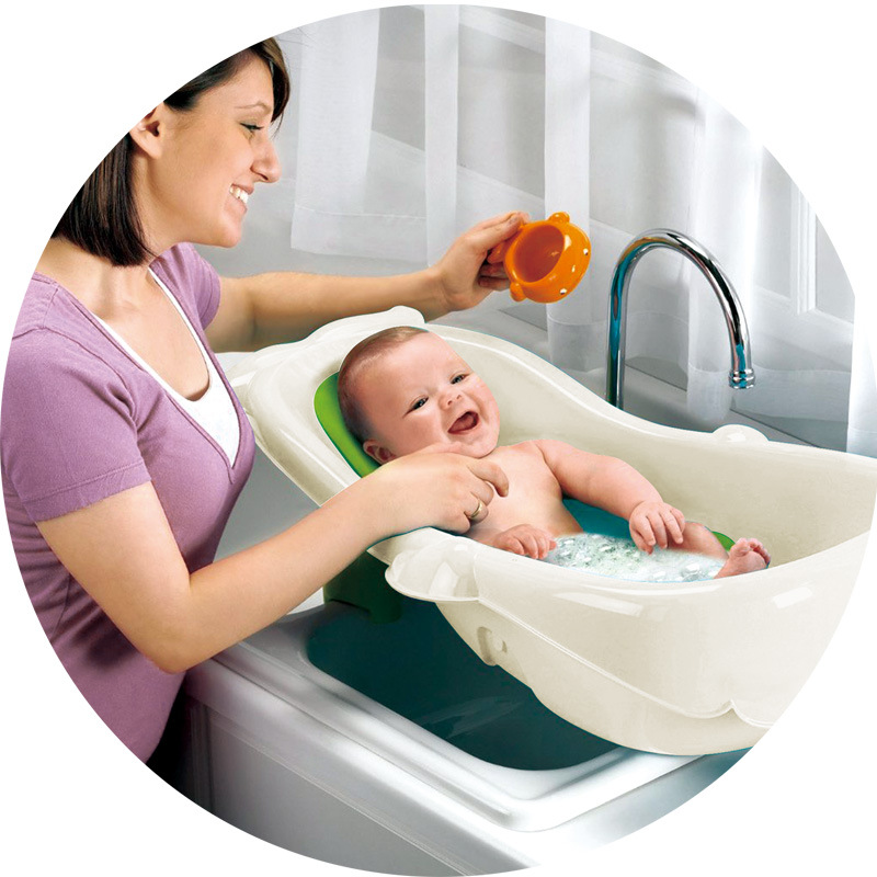 4 in 1 Grow With Me Baby Tub Shower Sure Comfort Deluxe Newborn to ...