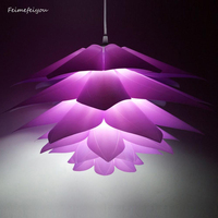 Creative DIY Lotus Chandelier PP Pendant Droplight Shade Ceiling Room Decoration Puzzle Lights Modern Lamp For