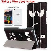 Newcool Cubierta Del Tirón Para Lenovo Tab TAB3 3 7 Plus 7703 7703x TB-7703X TB-7703F 7.0 Caja de la tableta + 2 unids protector de la pantalla