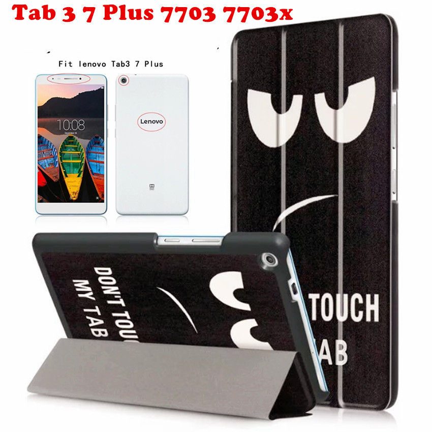 Newcool Flip Cover Leather Case For Lenovo TAB3 Tab 3 7 Plus 7703 7703x TB-7703X TB-7703F 7.0 tablet Case Smart Cover