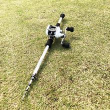 1.8 2.4m carbon fiber ultralight bait casting fishing rod with 17+1BB reel boat rock pole telescopic rod combos M power lure rod