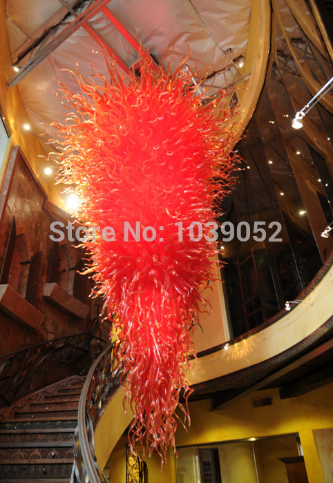 free shipping large style hand blown glass chandelier for salechina - Blown Glass Chandelier