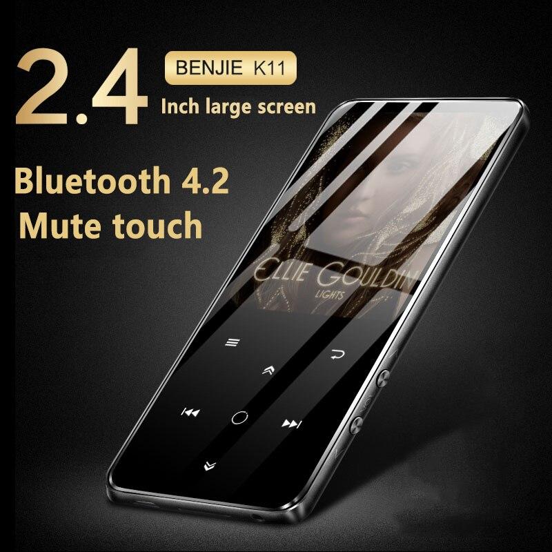 BENJIE K11 IPX4 Étanche HIFI Bluetooth4.2 Mp3 Lecteur de Musique Sans Perte Mini Portable Audio Joueurs Radio FM Ebook enregistreur vocal
