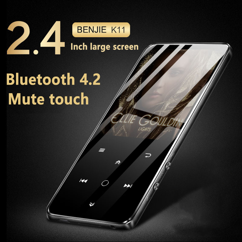 лучшая цена BENJIE K11 IPX4 Waterproof HIFI Mp3 Music Player 8GB Lossless Mini Portable Audio Players FM Radio Ebook Voice Recorder