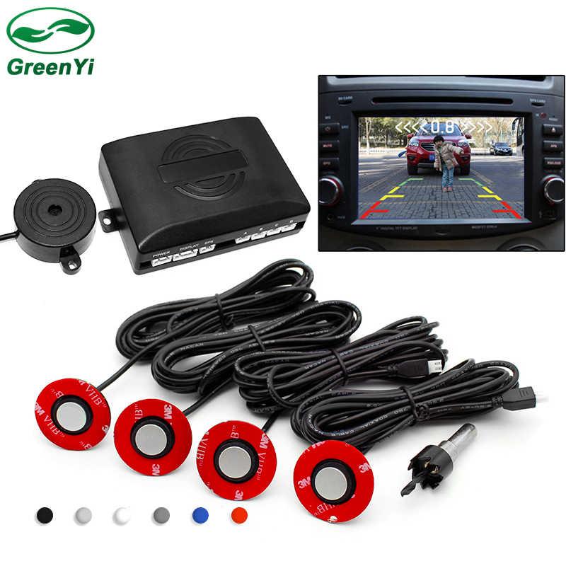 ada427caaba GreenYi Visible Car Video Parking Sensor Reverse Backup Assistance Radar  Alarm System + 13mm Adjustable Depth