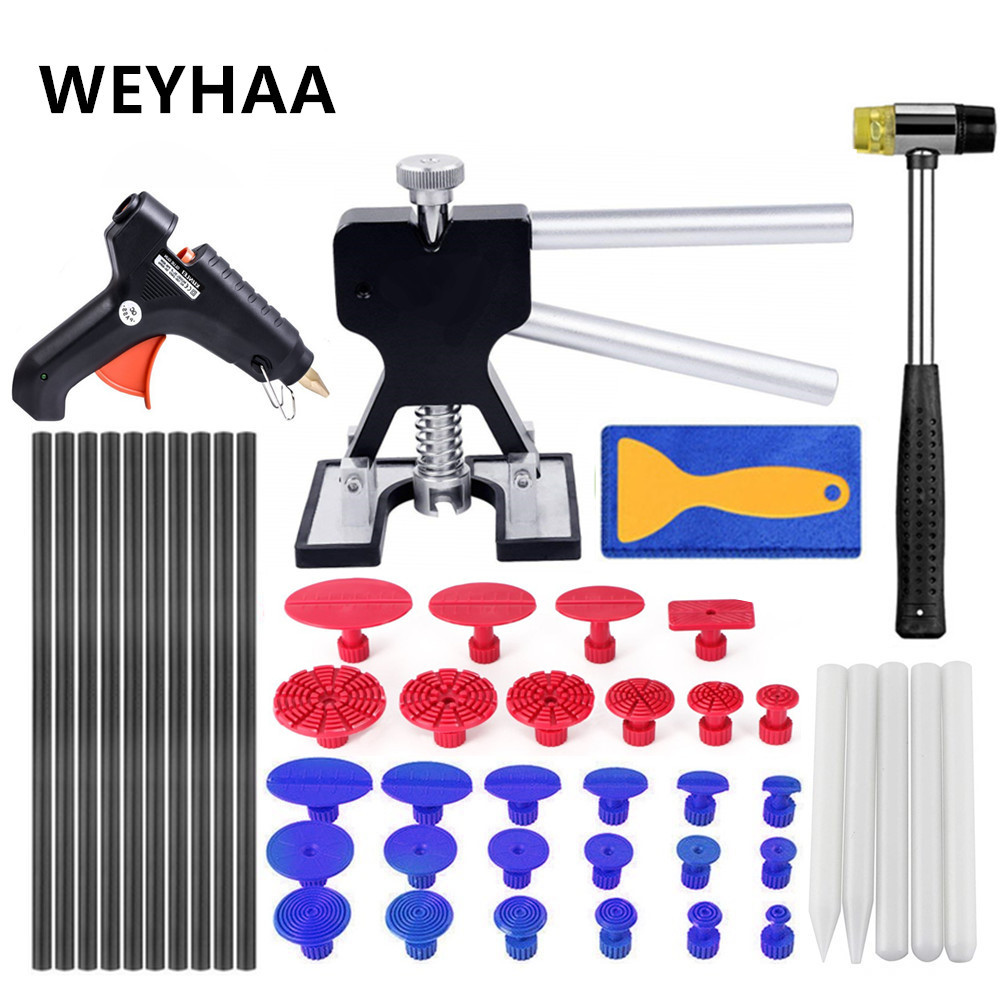 PDR DIY Pops a Dent Ding Car Auto Damage Repair Panel Bodywork Puller Tool Kit PDR Paintless Dent Removal Tap Down Tool