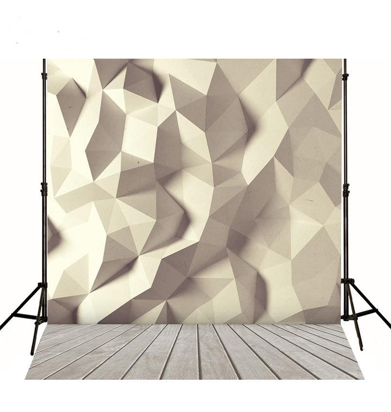 Pale Yellow Walls 3D Prism photo backdrop Vinyl cloth High quality Computer printed party Photography Backgrounds