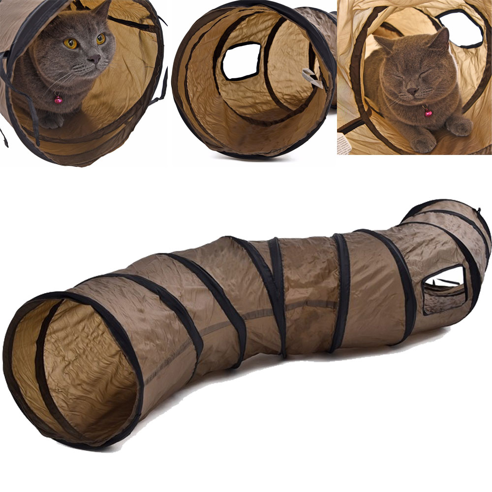 S Funny Cat Toy Collapsible Tunnel Foldable Product For Dog Kitten Rabbit S Shape Novel Design Cat Training Playing Toy Tunnel