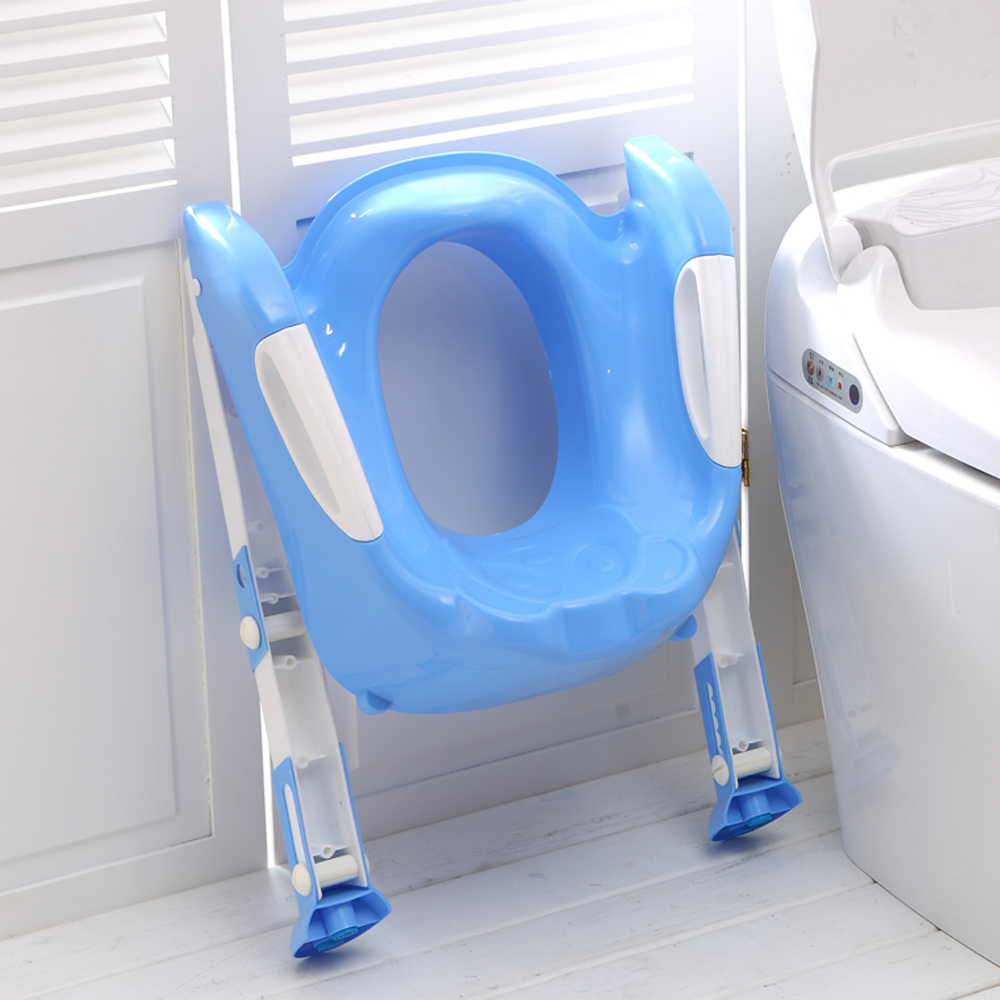 ea91e0575 2016 New Design Portable Folding Ladder Toilet Baby Potty Training Chair  Plastic Toilet Stand Seat for Children Baby-in Potties from Mother   Kids  on ...