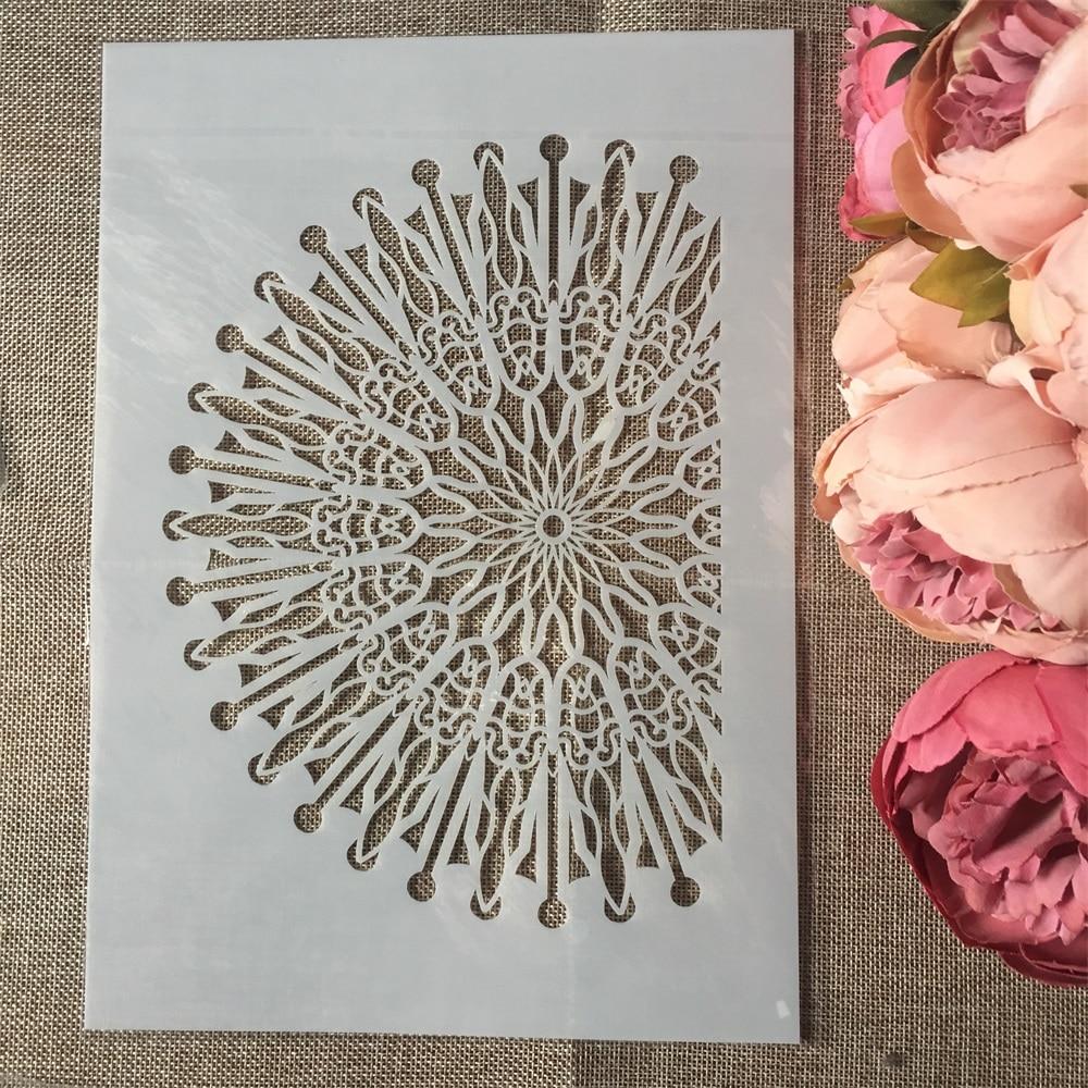 1Pcs A4 Half Circle DIY Layering Stencils Wall Painting Scrapbook Coloring Embossing Album Decorative Paper Card Template