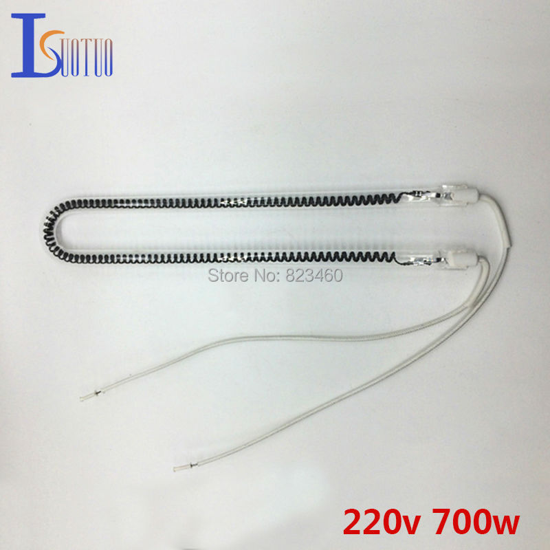 220V 700W U-type carbon fiber tube for Kitchen heating machine U shape Electric Heater Parts Halogen heating element 1500w 2000w halogen tube heating pipe infrared golden coated for warming patio heater electric heater parts