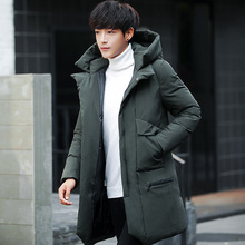 2017 Man Cotton-padded mens parka Coat Winter parkas thick warm Jacket outerwear coats long down hooded outwear