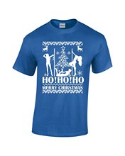 Gildan Fashion T-shirts  Merry Christmas Ho Ho Ho Stripper Dancers Ugly Christmas Sweater T-Shirt