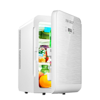 20L Mini Fridge for Car Auto LED Display Portable Refrigerator Freezer Cooler Refrigeration Heater Household Daul use