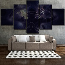 Canvas Wall Art Pictures Home Decor 5 Pieces Modern HD Printed Anime Sword Online Kirito Posters Paintings Modular Framework