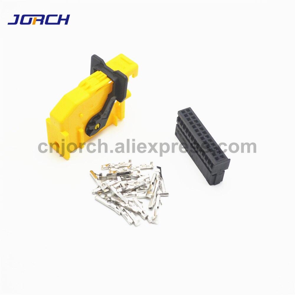 Free Shipping 5 Set 26 Way Pin ECU Automotive Connector Plug 185879-1 Auto Wiring Harness Connectors