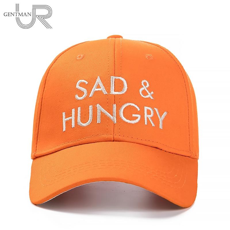 New Sad & Hungry Letter Embroidery Baseball Cap Women High Quality Solid Hat Cap  Casual Street Dad Hat Fashion 4 Colors Cap шумоподавитель supra sad gl