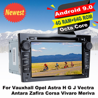 Android9.0 Car DVD GPS Navi Multimedia Center Player For Vauxhall Opel Astra H G JVectra Antara Zafira Corsa Vivaro Meriva Radio