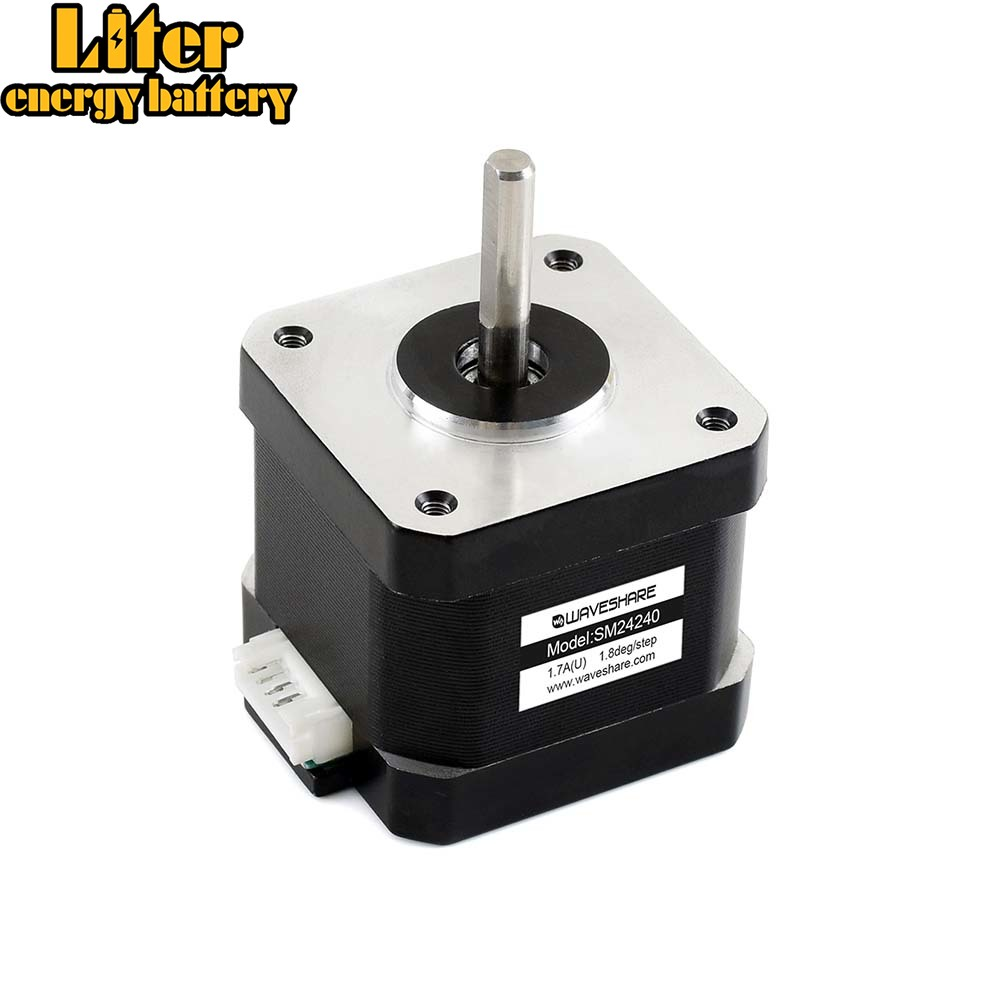 SM24240, Two-Phase Stepper Motor,Body Length: 40mm,Rated Current: 1.7A/Phase,Compatible Driver: SMD258C, Stepper Motor HAT