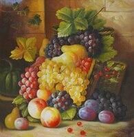 Бесплатная доставка натюрморт картина маслом виноград зеленый тыквы свежие фрукты холст печать на холсте стены искусства украшения картин...